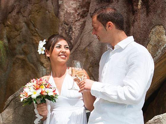 Champagne toasts at Constance Ephelia Resort