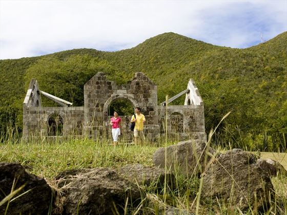 Cottle Church ruins in Nevis