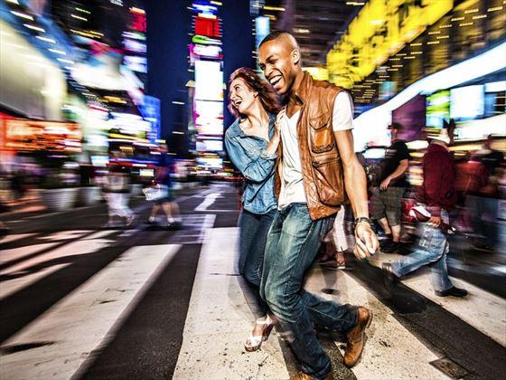 Couple enjoying the New York City nightlife