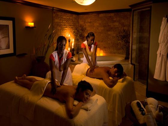 Couples massage at Sandals Negril Beach Resort & Spa