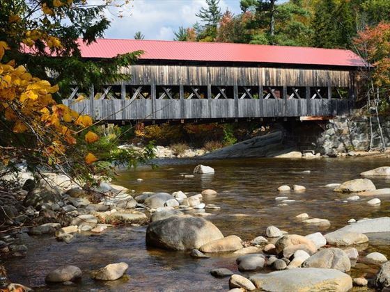 Covered bridge in the White Mountains