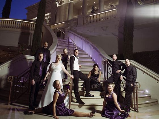 Caesars Palace wedding party