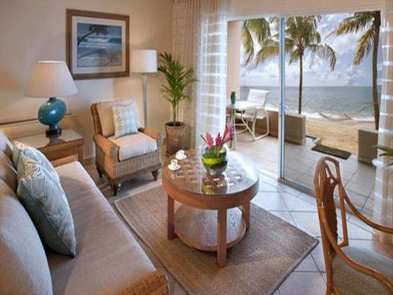 Curtain Bluff living room
