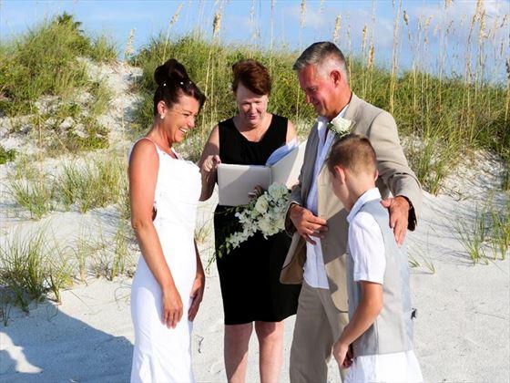 Beach wedding, Clearwater