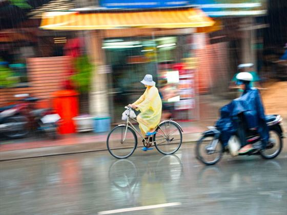Cyclists in Ho Chi Minh City
