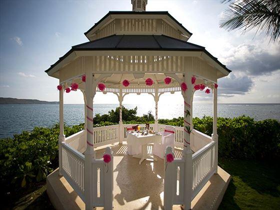 Decorated wedding gazebo