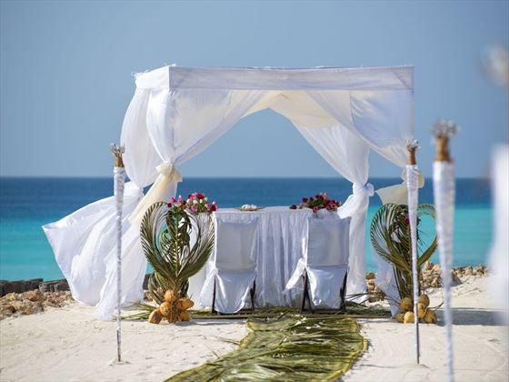 Your beautiful wedding setting at Diamonds Star of the East