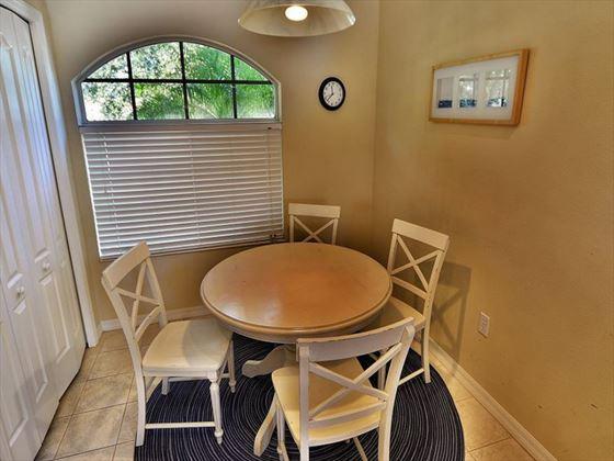 Dining area at Sarasota Bradenton Area Pool Homes