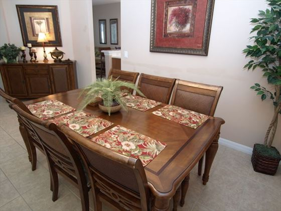 Dining area at West Haven Homes