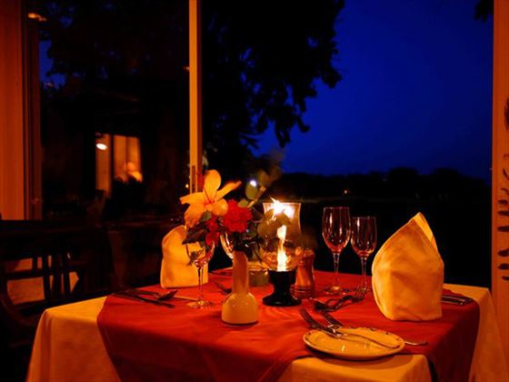 Dining at Sweetwaters Tented Camp