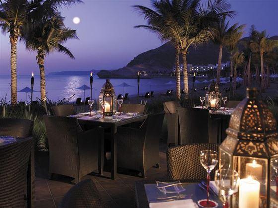 Dining at the Capri Court Italian Restaurant, Al Bandar Hotel