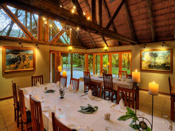 Dining room at Savute Safari Lodge