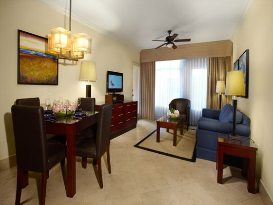 Divi Village Golf & Beach Resort living room area