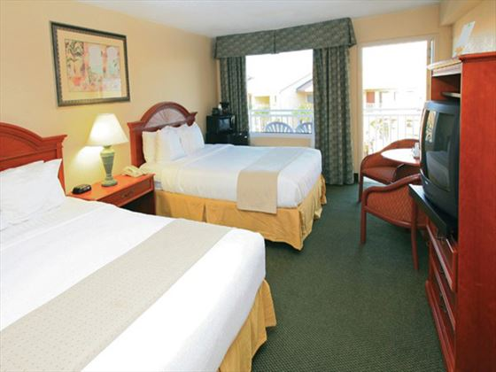 Double room at Holiday Isle Oceanfront Resort