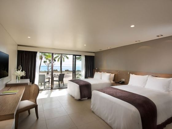 Double Queen Guestroom Beachfront with Balcony