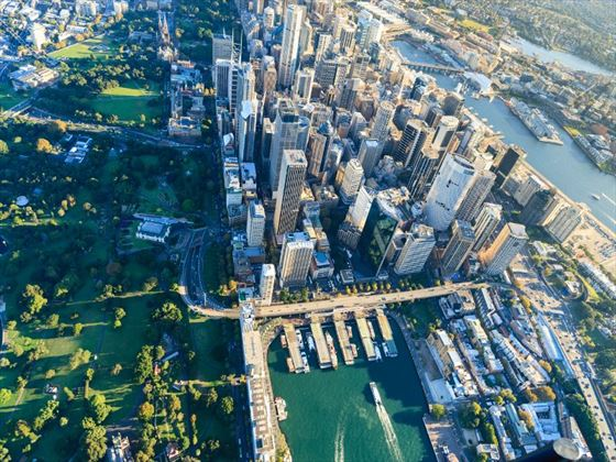 Aerial view of downtown Sydney