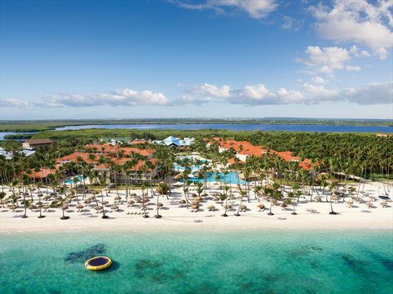 An aerial view of Dreams Palm Beach Punta Cana.