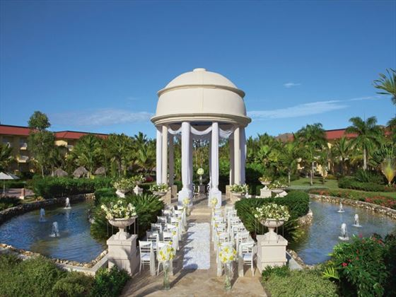 The beautiful wedding gazebo at Dreams Punta Cana Resort & Spa