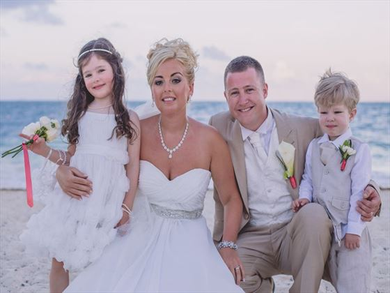 Beautiful wedding family