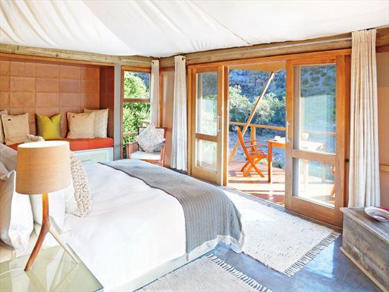 Dwyka bedroom at Sanbona Wildlife Reserve