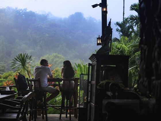 Breakfast views at Elephant Hills, Khao Sok