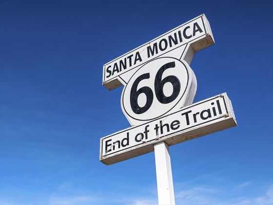 End of the Route 66 trail, Santa Monica