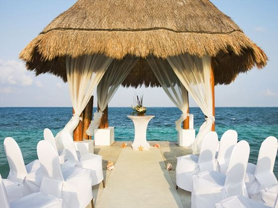Amazing wedding setting at Excellence Riviera Cancun