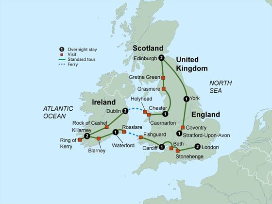 Exploring Britain & Ireland itinerary