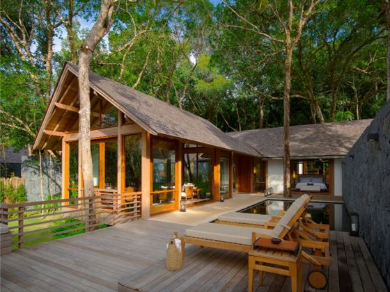Exterior view of a Beach Villa at The Datai