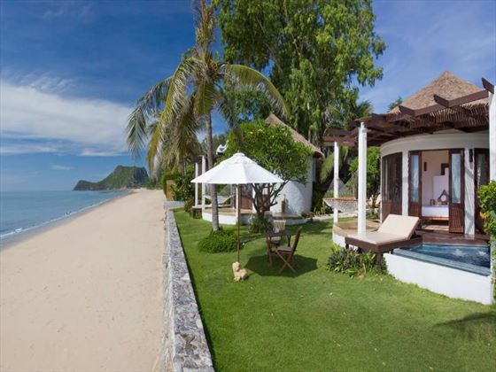 Exterior view of Aleenta Hua Hin Pranburi Resort and Spa and coastline