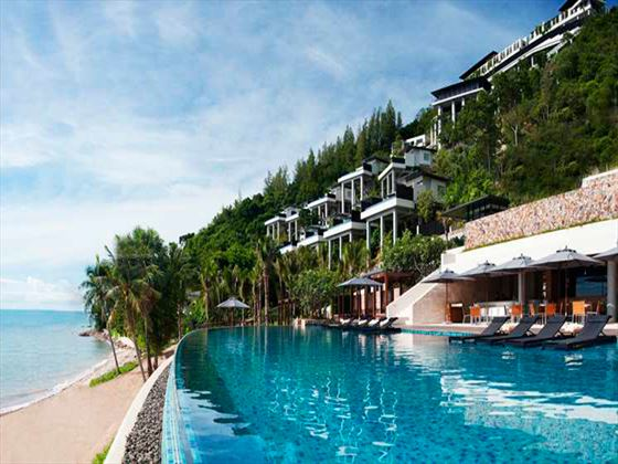 Exterior view of Azure Bar and Grill at Conrad Koh Samui