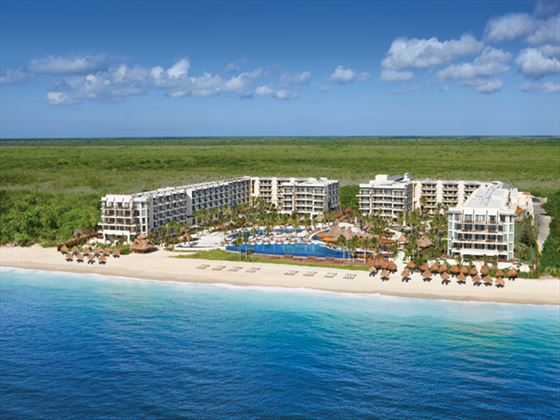 Exterior view of Dreams Riviera Cancun Resort & Spa