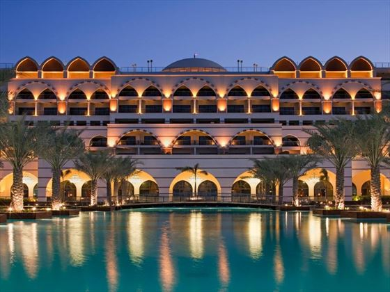 Exterior view of Jumeirah Zabeel Saray at night