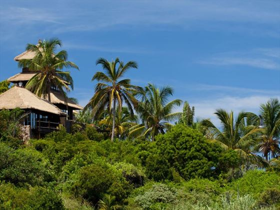 Exterior view of the accommodation at Necker Island