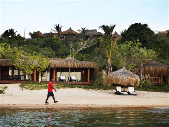 Exterior view of the Beach Chalet at Indigo Bay Resort & Spa