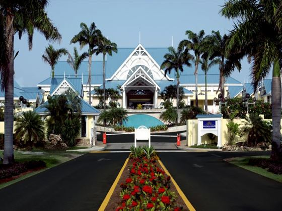 Exterior view of the entrance to Magdalena Grand Beach Resort