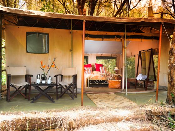 Exterior view of the tent at Nairobi Tented Camp