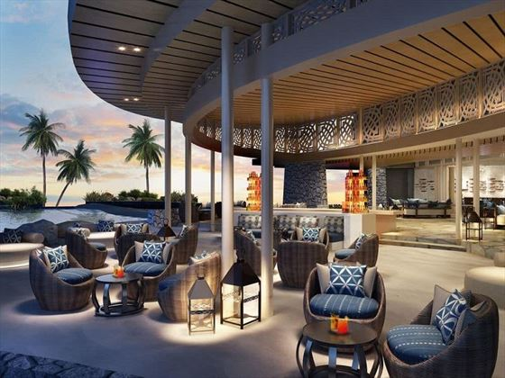 Fiji Marriott Resort Momi Bay al fresco dining (artist's impression)