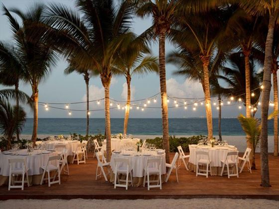 Wedding reception setting