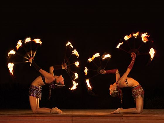 Fire show at Dreams Sands Cancun