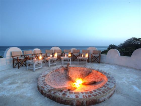 Fireplace at Msambweni Beach House