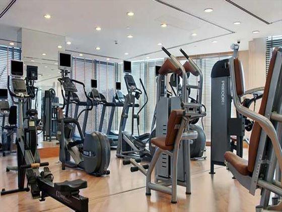 Fitness centre at Hilton Dubai Jumeirah Beach Resort