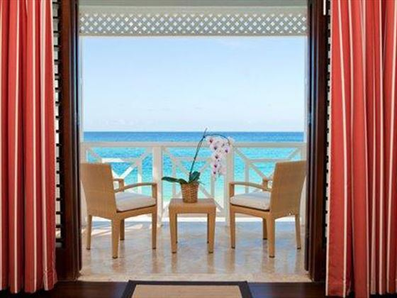 Stunning views of the Caribbean from the balcony