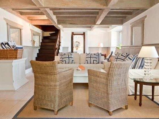 The stylish living area