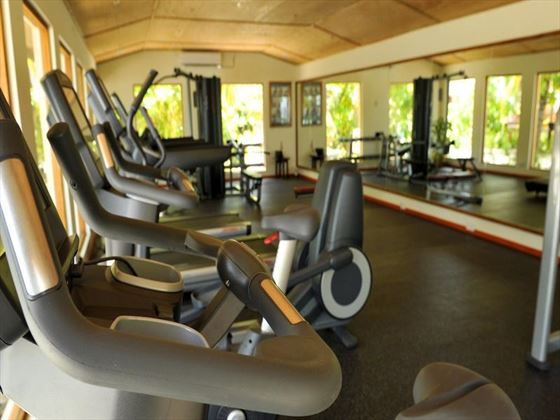 Fully-equipped fitness centre at Komandoo Island Resort