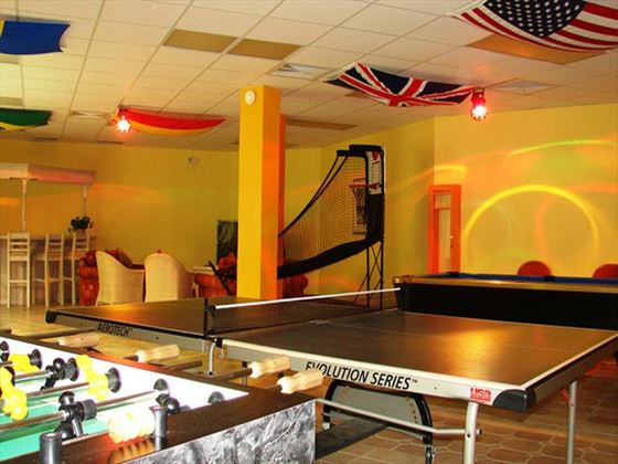 Games room at Bougainvillea Beach Resort
