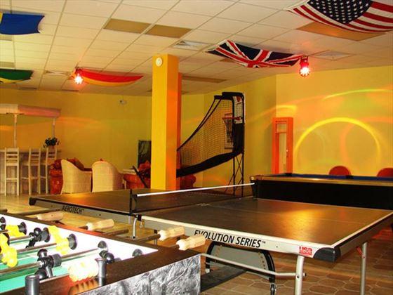 Games room at Bougainvillea Beach Resort