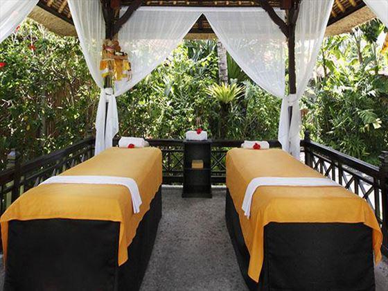 Garden spa treatment at Melia Benoa