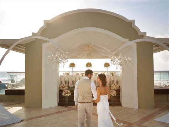 The Oceanfront Wedding Gazebo at Gran Caribe Resort & Spa