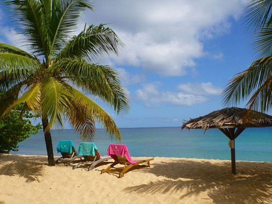 Sun loungers at Grenadian by Rex Resorts